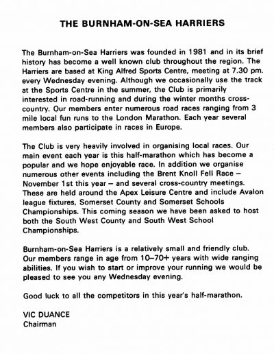 Harriers History
